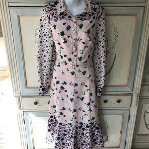 Gorgeous Boden pink floral dress!! Sz 8